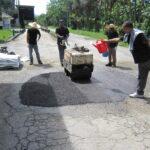 Malaysia - Chicken Farm Malaysia Road (Pothole Patch Repair)