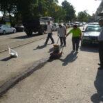 MPK Demo in Klang (Pothole Repair)